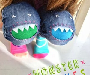 diy, monster, and jeans image
