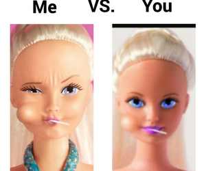 funny, barbie, and girl image