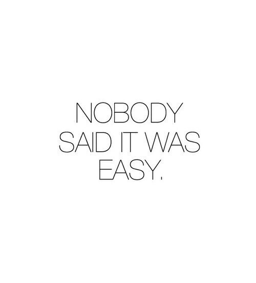 Nobody Said It Was Easy On We Heart It