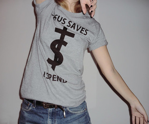 jesus, save, and money image