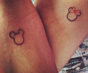 couple, disney, and tattoo image