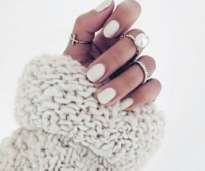 nails, white, and fashion image
