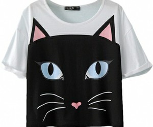 cat, fashion, and shirt image