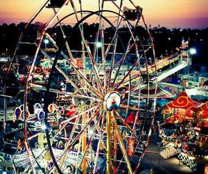 ferris wheel, fun, and romantic image