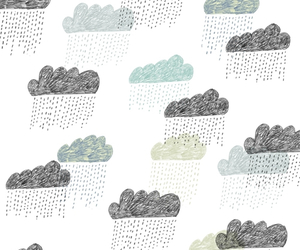 clouds, pattern, and rain image