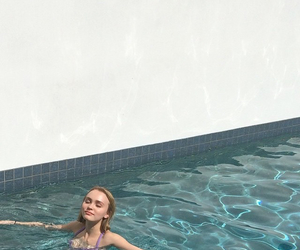 swimming, site model, and lily rose melody depp image