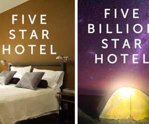 stars, hotel, and camping image