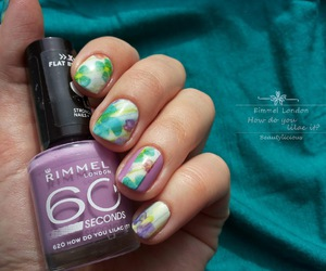 flowers, nails, and pretty image
