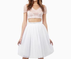 fashion, girly, and white tulle skirt image