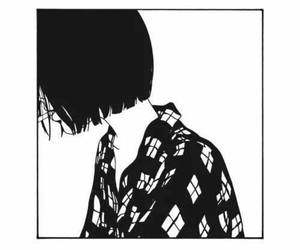 black and white, art, and cigarette image
