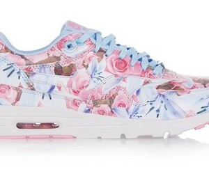 flowers, nike, and pink image