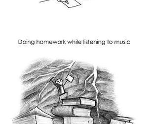 boss, homework, and music image