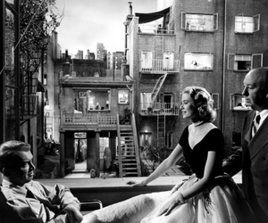grace kelly, black and white, and rear window image