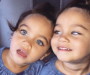twins, baby, and beautiful image