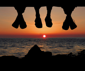 summer, sunset, and friends image