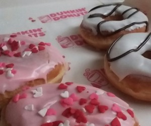 dunkin donuts, food, and relaxing afternoon image