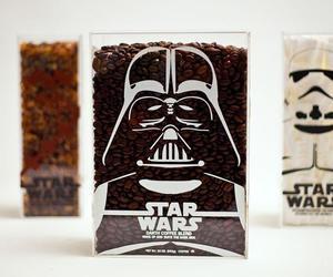 black, star wars, and coffee image