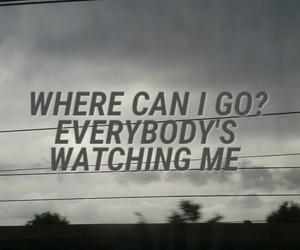 afraid, escape, and grey sky image