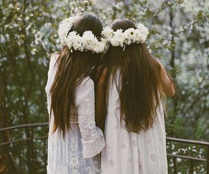 flowers and sisters image