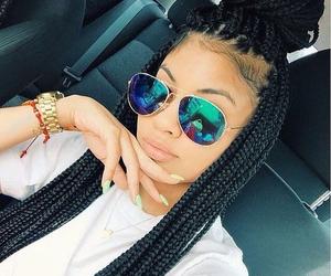 girl, braid, and box braids image