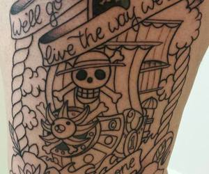 anime, one piece, and tatoo image