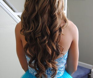 hair, dress, and hairstyle image