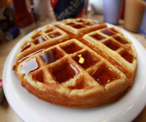 food, waffles, and yum image