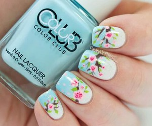 nails, spring, and blue image