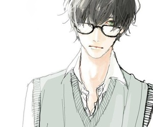 anime, boy, and glasses image