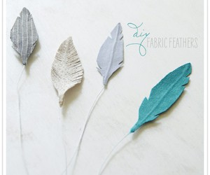 feathers, diy, and fabric feathers image