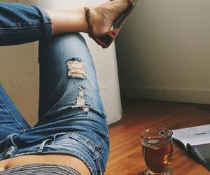 fashion, tea, and girl image