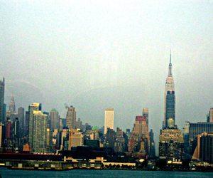 new york, skyline, and love image
