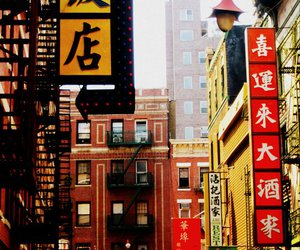china town, new york, and love image