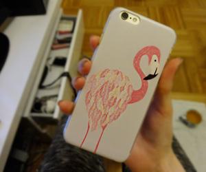 case, flamingo, and iphone image