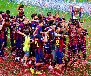 fc barcelona, champions, and la liga image