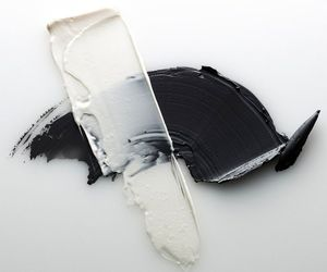 paint, black, and white image