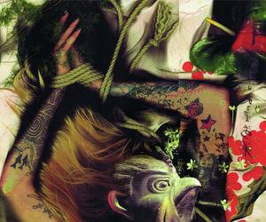 art, japanese, and shibari image
