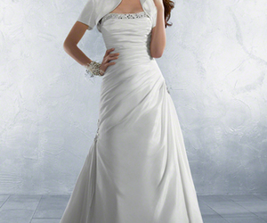 bridal, wedding dress, and dress image