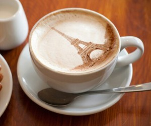 coffee, eiffel tower, and paris image
