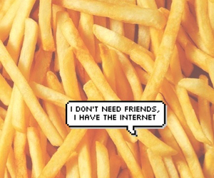 wallpaper, fries, and internet image