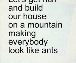 ants, house, and mountain image