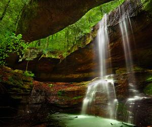 beautiful, landscape, and waterfall image