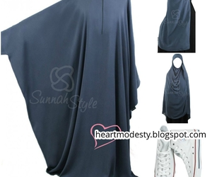 hijab, khimar, and abaya image