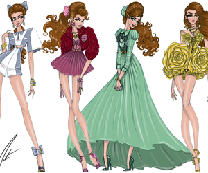 disney, belle, and fashion image