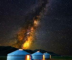 mongolia, night, and night sky image