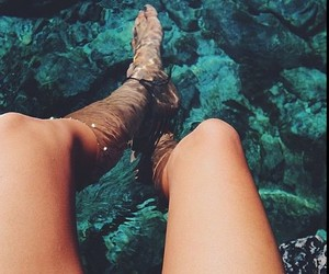 summer, water, and ocean image