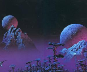 illustration, planets, and tim white image