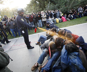 peaceful, police, and occupy image