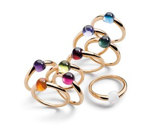 colored, gold rings, and jewelry image