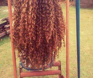 hair, curly, and long image